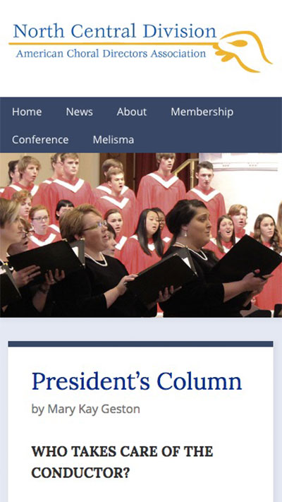 Website for the North Central Division of the ACDA